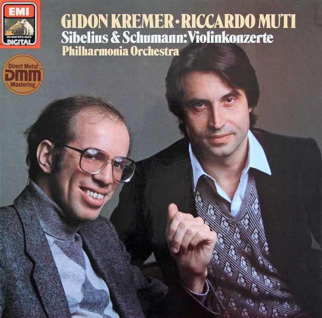 クレーメル&ムーティのシベリウス&シューマン/ヴァイオリン協奏曲 独EMI 3212 LP レコード