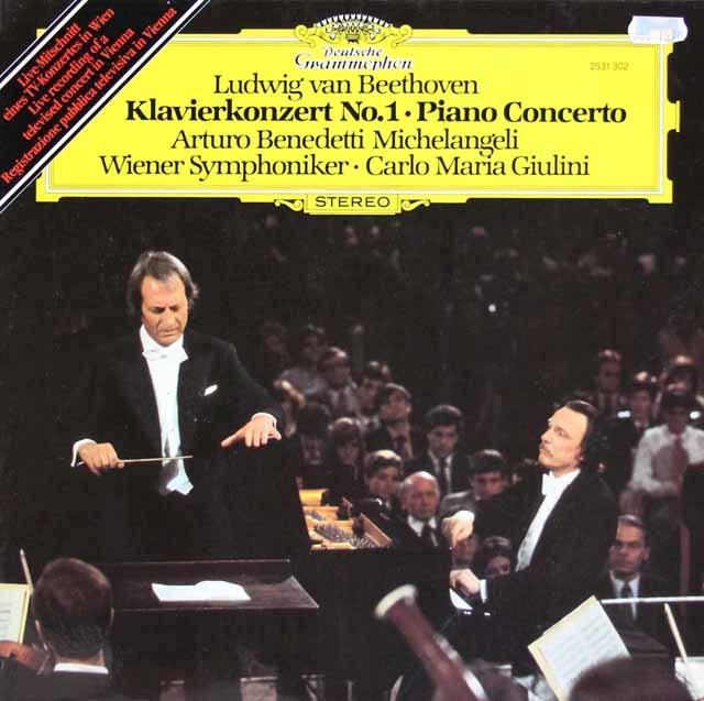 ミケランジェリ&ジュリーニのベートーヴェン/ピアノ協奏曲第1番 独DGG 3212 LP レコード