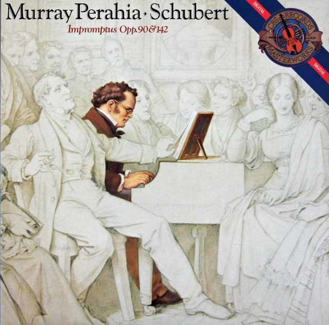 ペライアのシューベルト/即興曲 作品90、作品142 独CBS 3212 LP レコード