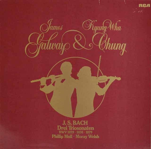 チョン、ゴールウェイ、ウェルシュ、モルのバッハ/フルート、ヴァイオリンと通奏低音のためのソナタ集 独RCA 3212 LP レコード