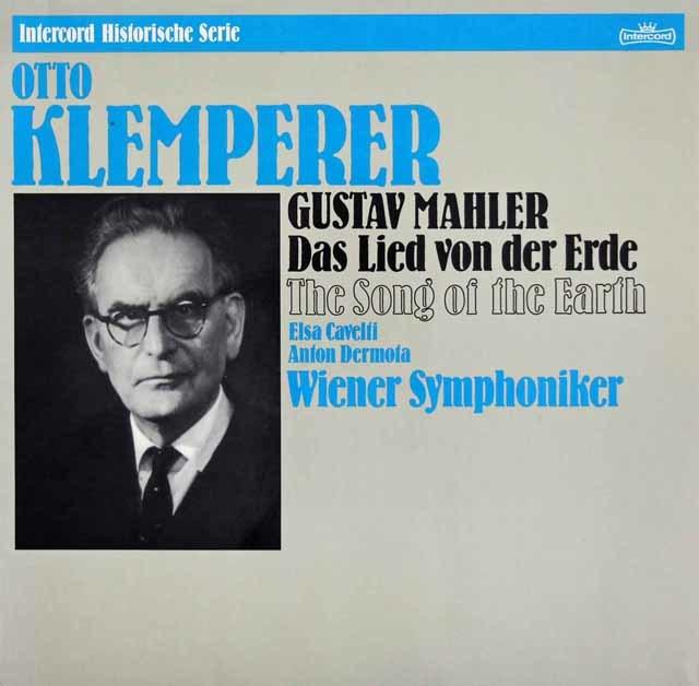カヴェルティ、デルモータ&クレンペラーのマーラー/「大地の歌」 独Intercord 3212 LP レコード