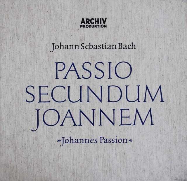 リヒターのバッハ/「ヨハネ受難曲」全曲 独ARCHIV 3212 LP レコード