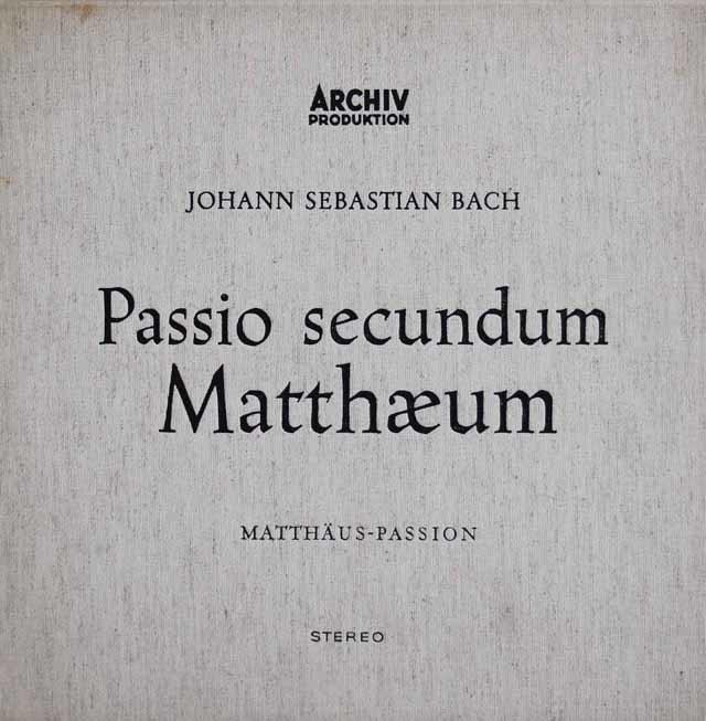 【オリジナル盤】 リヒターのバッハ/マタイ受難曲 独ARCHIV 3212 LP レコード
