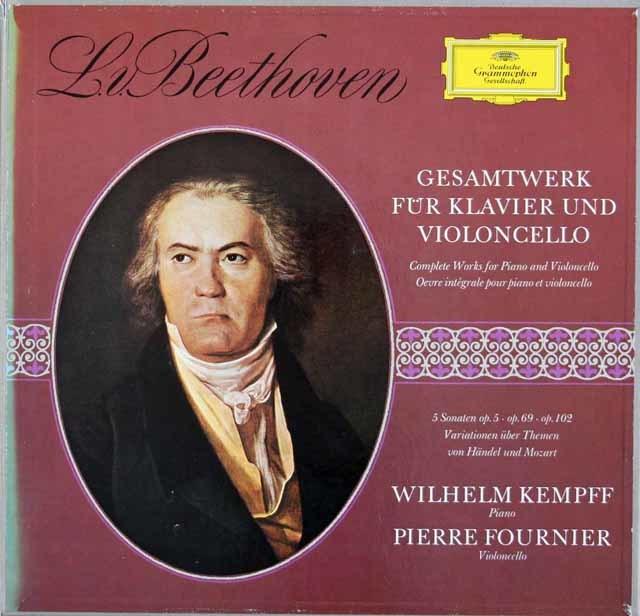 フルニエ&ケンプのベートーヴェン/チェロとピアノのための作品全集 独DGG 3212 LP レコード