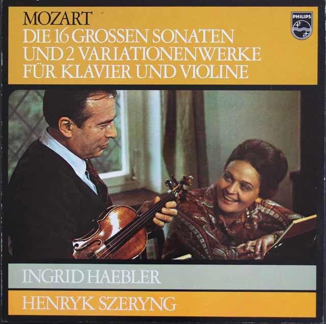 ヘブラー&シェリングのモーツァルト/ヴァイオリンとピアノのためのソナタ集 蘭PHILIPS 3212 LP レコード