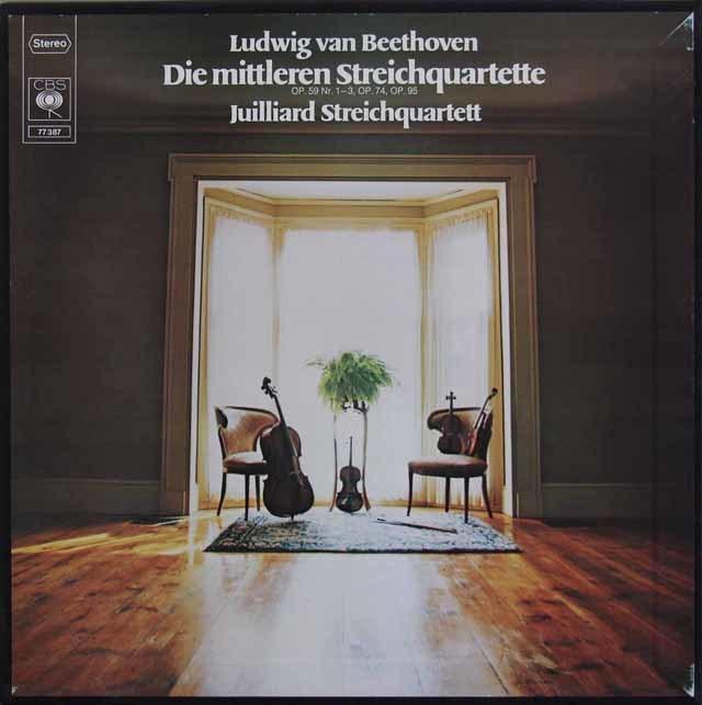 ジュリアード四重奏団のベートーヴェン/中期弦楽四重奏曲全集 独CBS 3212 LP レコード