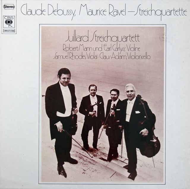 ジュリアード四重奏団のドビュッシー&ラヴェル/弦楽四重奏曲集 独CBS 3213 LP レコード