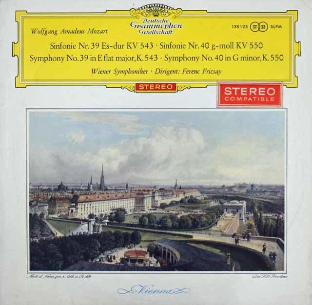 【赤ステレオ・オリジナル盤】フリッチャイのモーツァルト/交響曲第39 & 40番 独DGG 3213 LP レコード