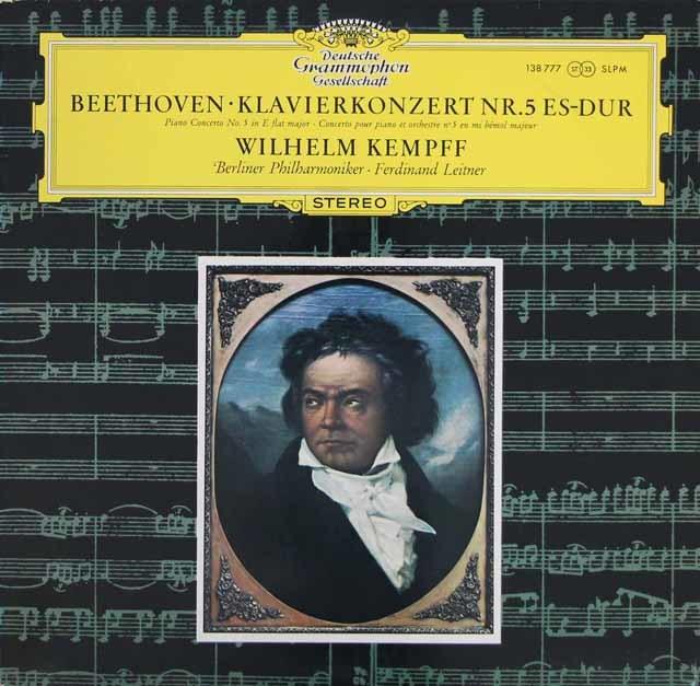 ケンプ&ライトナーのベートーヴェン/ピアノ協奏曲第5番「皇帝」 独DGG 3213 LP レコード