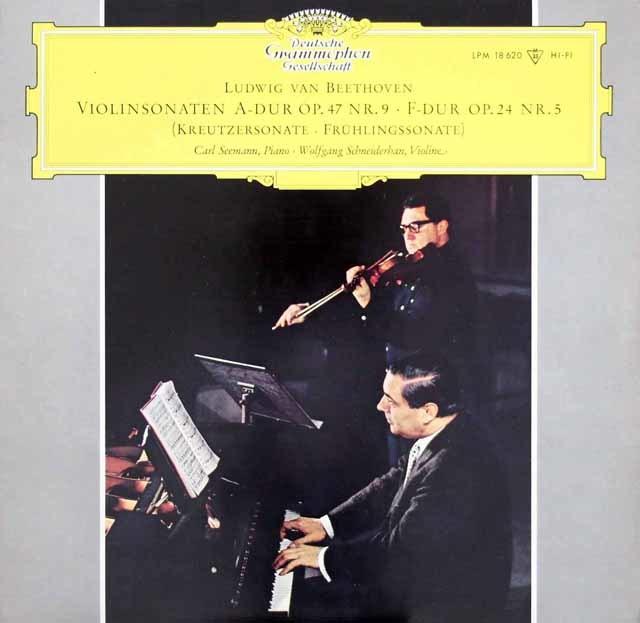 シュナイダーハン&ゼーマンのベートーヴェン/ヴァイオリンソナタ「春」&「クロイツェル」  独DGG  3213 LP レコード