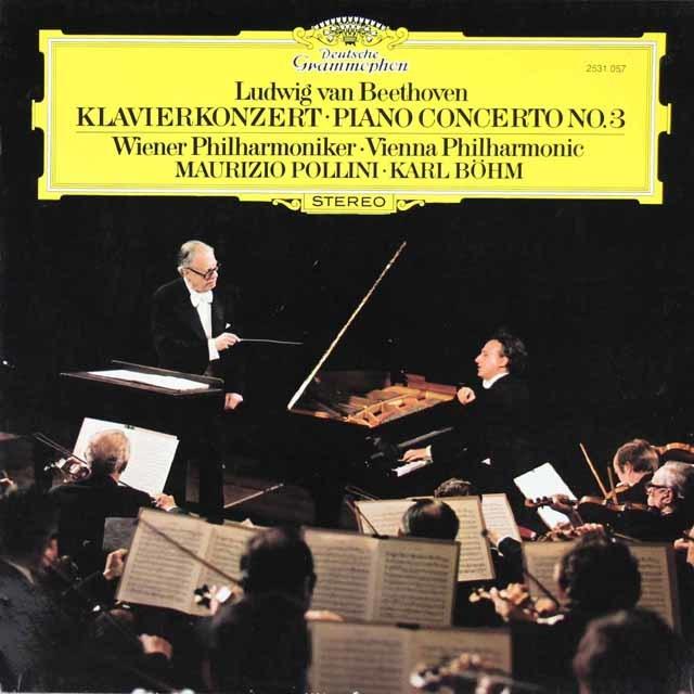 ポリーニ&ベームのベートーヴェン/ピアノ協奏曲第3番 独DGG 3213 LP レコード