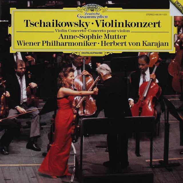 ムター&カラヤンのチャイコフスキー/ヴァイオリン協奏曲  独DGG 3213 LP レコード
