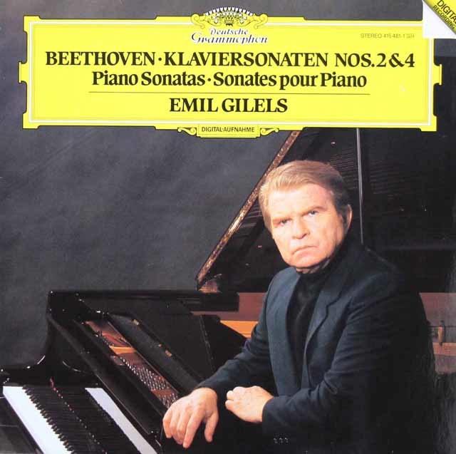 ギレリスのベートーヴェン/ピアノソナタ第2&4番 独DGG 3213 LP レコード