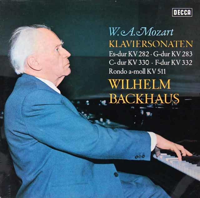 バックハウスのモーツァルト/ピアノソナタ集 独DECCA 3213 LP レコード