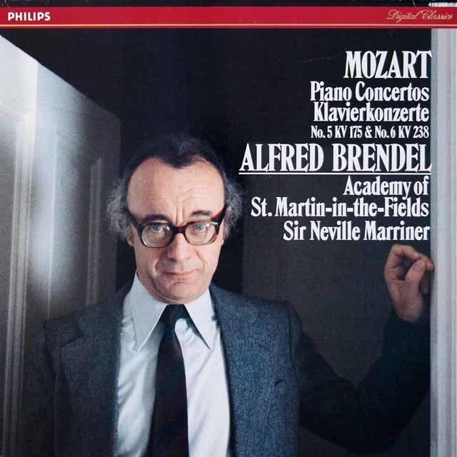 ブレンデル&マリナーのモーツァルト/ピアノ協奏曲第5 & 6番ほか 蘭PHILIPS 3213 LP レコード