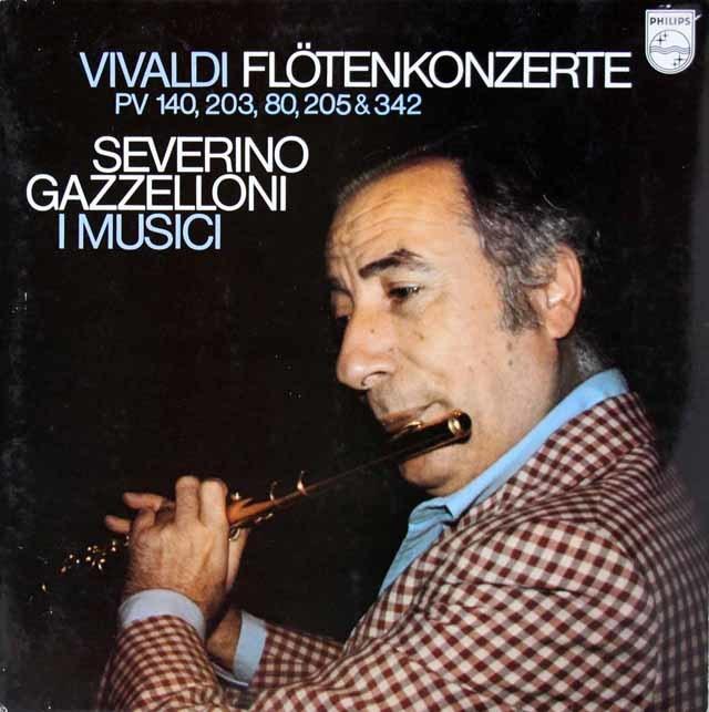 ガッゼローニとイ・ムジチのヴィヴァルディ/フルート協奏曲集  蘭PHILIPS  3213 LP レコード