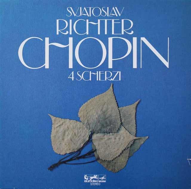 リヒテルのショパン/スケルツォ集  独eurodisc  3213 LP レコード