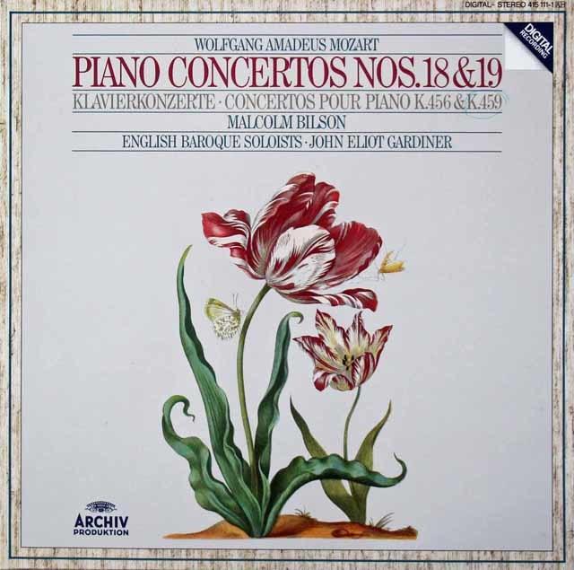 ビルソン&ガーディナーのモーツァルト/ピアノ協奏曲第18&19番 独ARCHIV 3213 LP レコード