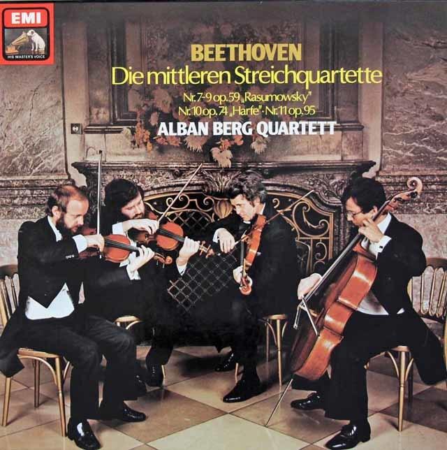 アルバン・ベルク四重奏団のベートーヴェン/中期弦楽四重奏曲集 独EMI 3213 LP レコード