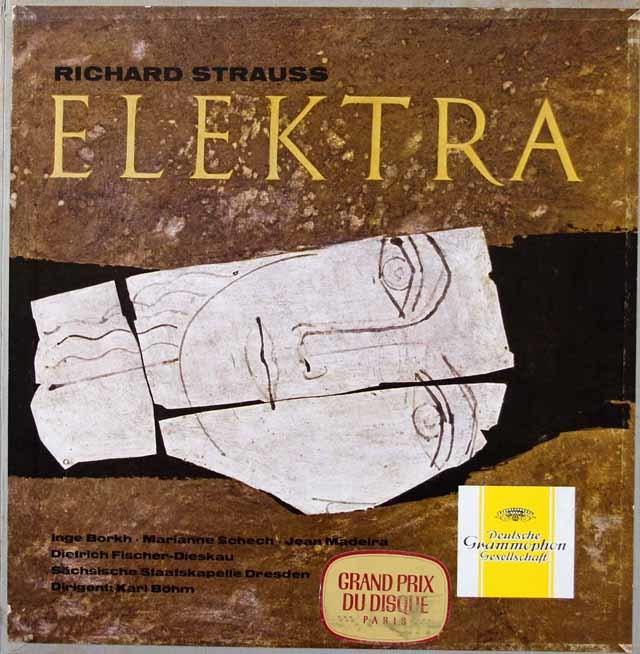 【独最初期盤】ベームのR.シュトラウス/「エレクトラ」全曲 独DGG 3213 LP レコード