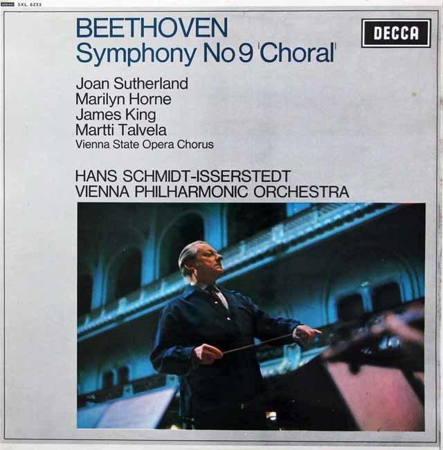 イッセルシュテットのベートーヴェン/交響曲第9番「合唱付き」 英DECCA 3214 LP レコード