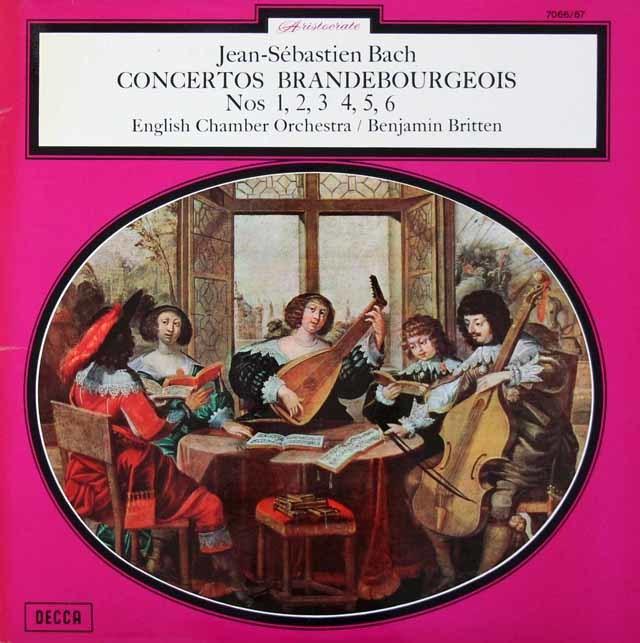 ブリテンのバッハ/ブランデンブルク協奏曲全集 仏DECCA  3214 LP レコード