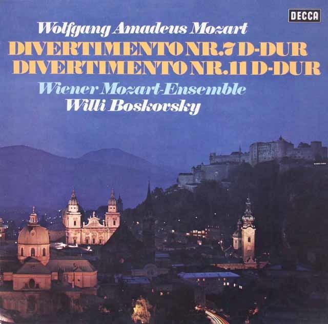 【テストプレス】 ボスコフスキーのモーツァルト/ディヴェルティメント第7、11番  独DECCA 3214  LP レコード