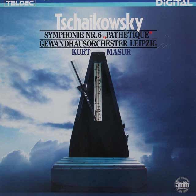 マズアのチャイコフスキー/交響曲第6番「悲愴」 独TELDEC  3214 LP レコード