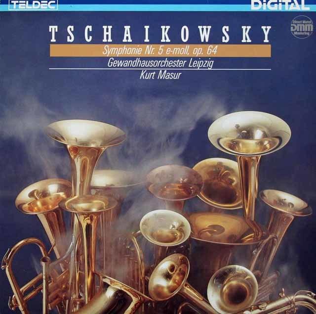 マズアのチャイコフスキー/交響曲第5番 独TELDEC  3214 LP レコード