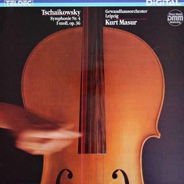 マズアのチャイコフスキー/交響曲第4番 独TELDEC  3214 LP レコード