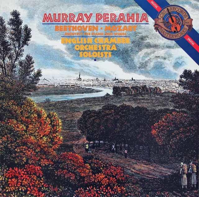 ペライアのベートーヴェン&モーツァルト/五重奏曲集   蘭CBS   3214 LP レコード