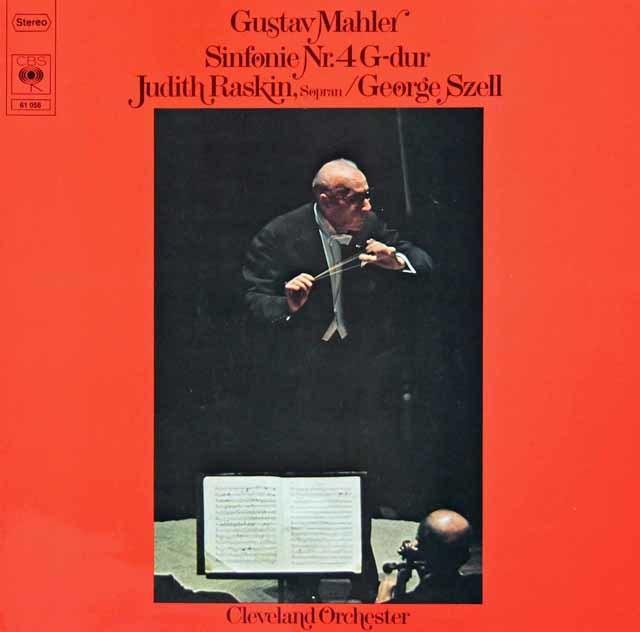 セルのマーラー/交響曲第4番 独CBS   3214 LP レコード