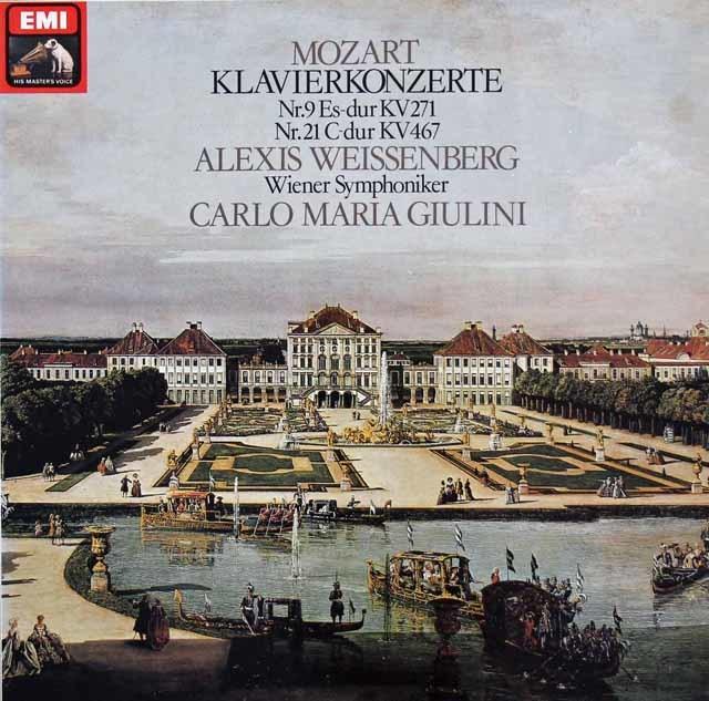ワイセンベルク&ジュリーニのモーツァルト/ピアノ協奏曲第9&21番  独EMI 3214 LP レコード