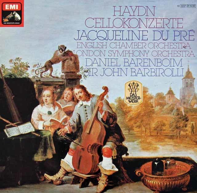 デュ・プレ&バレンボイムのハイドン/チェロ協奏曲第1、2番 独EMI 3214 LP レコード