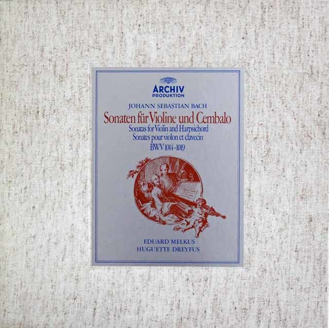 メルクス&ドレフュスのバッハ/ヴァイオリンソナタ集     独ARCHIV 3214 LP レコード