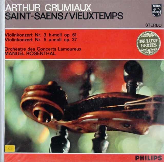 グリュミオー&ロザンタルのサン=サーンス/ヴァイオリン協奏曲第3番ほか 蘭PHILIPS 3214 LP レコード