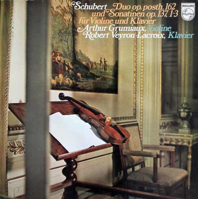 グリュミオー&ラクロワのシューベルト/二重奏曲ほか 蘭PHILIPS 3214 LP レコード