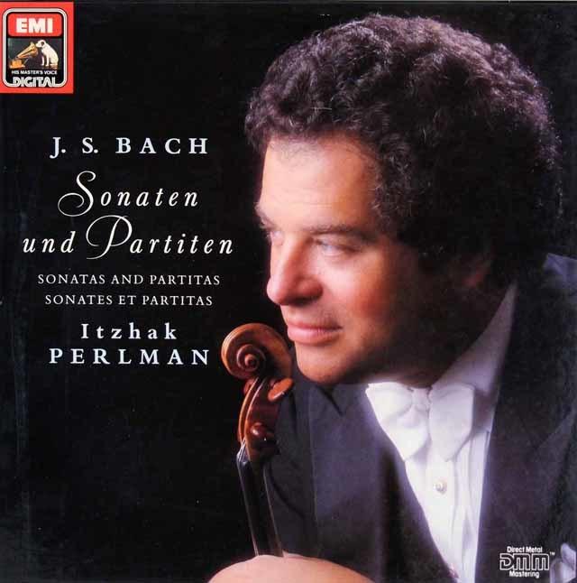 パールマンのバッハ/無伴奏ヴァイオリンのためのソナタとパルティータ集 独EMI 3214 LP レコード