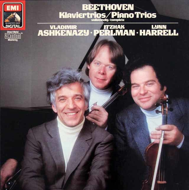 パールマン、アシュケナージ&ハレルのベートーヴェン/ピアノ三重奏曲全集 独EMI 3214 LP レコード