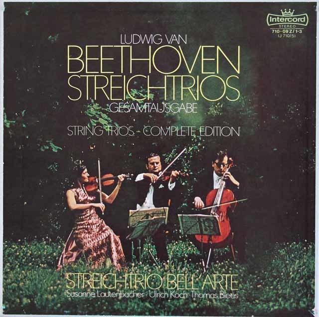 ラウテンバッハーらベルアルテ・トリオのベートーヴェン/弦楽三重奏曲全集 独Intercord 3214 LP レコード