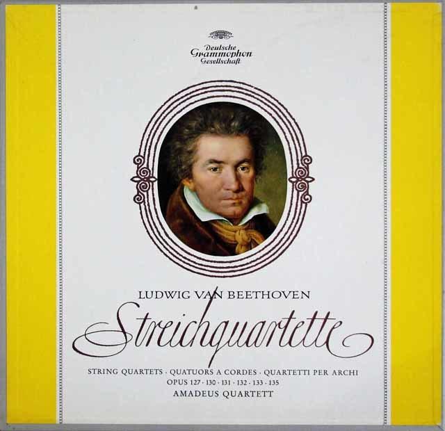 【ドイツ最初期盤】 アマデウス四重奏団のベートーヴェン/後期弦楽四重奏曲集 独DGG 3214 LP レコード