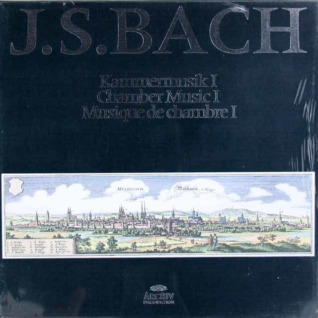 【未開封】 シェリングのバッハ/無伴奏ソナタ&パルティータほか 独ARCHIV 3214 LP レコード