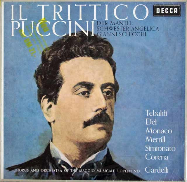【未開封】 ガルデルリのプッチーニ/「外套」、「アンジェリカ」&「ジャンニ・スキッキ」(三部作) 独DECCA 3214 LP レコード