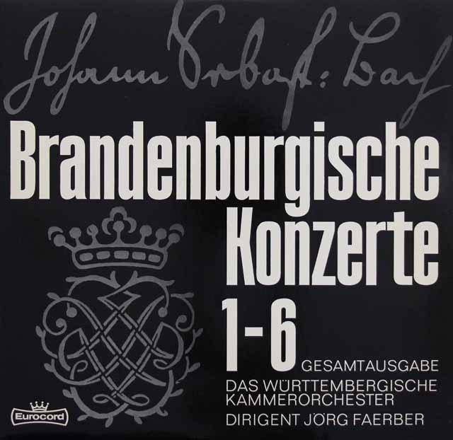 ラウテンバッハータ&フェルバーらのバッハ/ブランデンブルク協奏曲 独Eurocord 3215 LP レコード