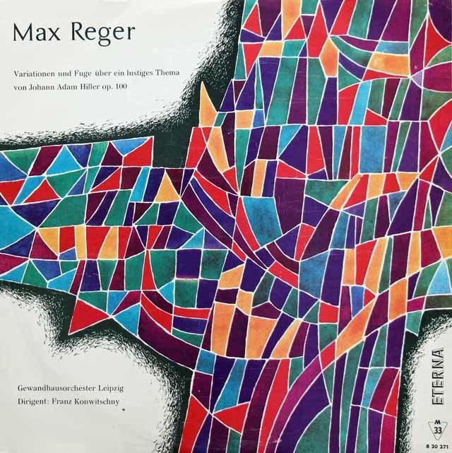 コンヴィチュニーのレーガー/ヒラーの主題による変奏曲 独ETERNA 3215 LP レコード