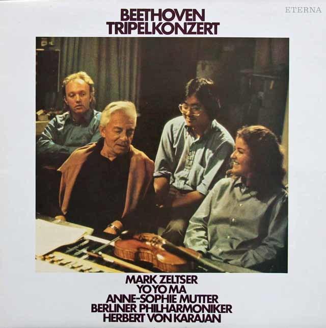 ムター、ゼルツァー、マ&カラヤンのベートーヴェン/三重協奏曲  独ETERNA 3215 LP レコード