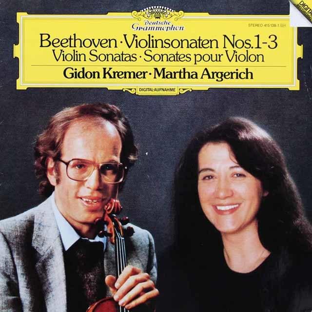 クレーメル&アルゲリッチのベートーヴェン/ヴァイオリンソナタ第1、2、3番 独DGG 3215 LP レコード