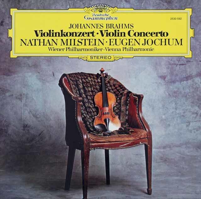 ミルシュタイン&ヨッフムのブラームス/ヴァイオリン協奏曲 独DGG 3215 LP レコード