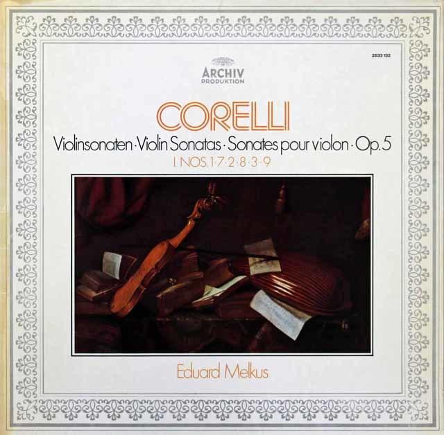 メルクスのコレッリ/ヴァイオリン・ソナタ集 独ARCHIV 3215 LP レコード