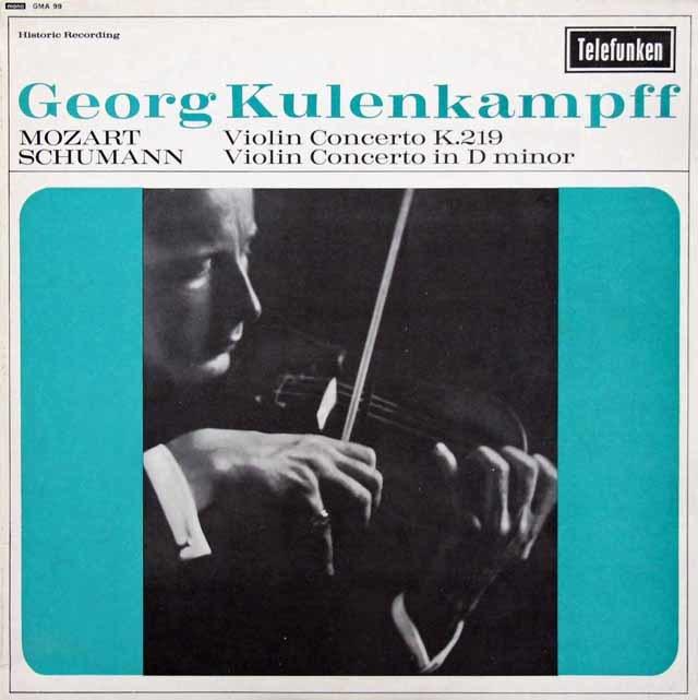 クーレンカンプのモーツァルト&シューマン/ヴァイオリン協奏曲集 英TELEFUNKEN 3215 LP レコード